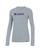 Under Armour F20 Boxed AU Auburn Womens Long Sleeve Sideline Performance Cotton T-Shirt
