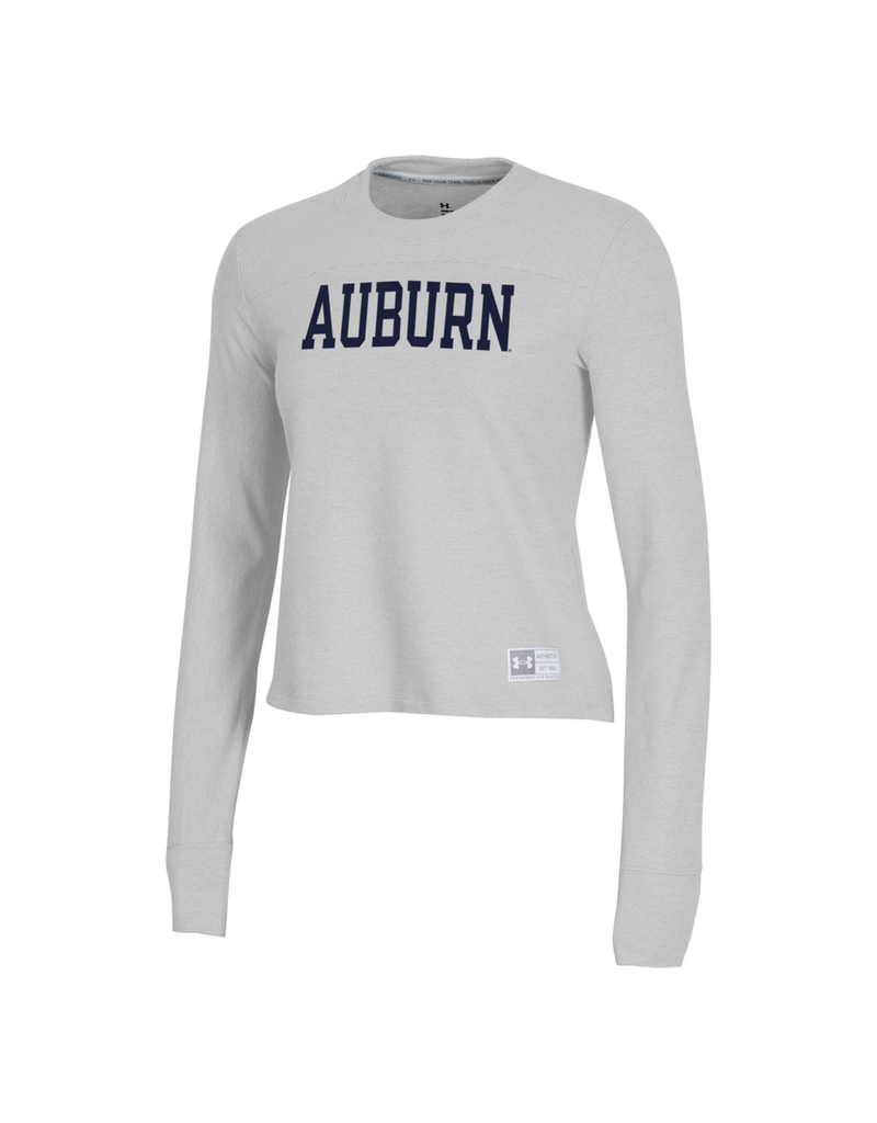 Under Armour F20 Block Auburn Womens Gameday Lightweight Cropped Crew