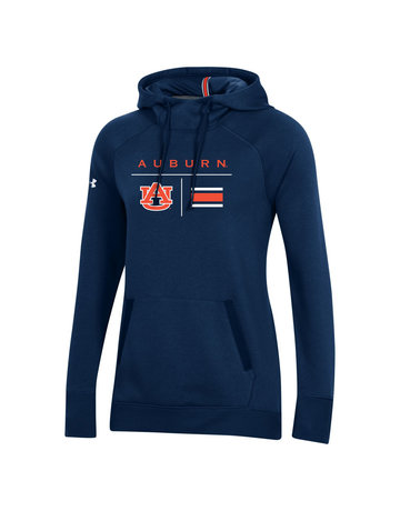 Under Armour F20 Auburn AU Football Stripe Womens Campus Fleece Hood