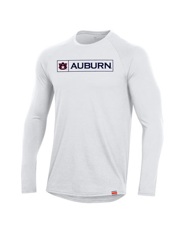 Under Armour F20 Boxed AU Auburn Sideline Long Sleeve Performance Cotton T-Shirt