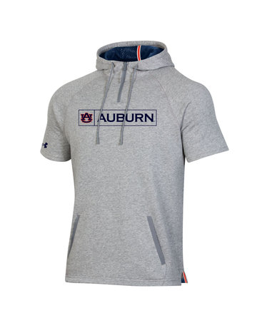 Under Armour F20 Boxed AU Auburn Short Sleeve Fleece 1/4 Zip Hood