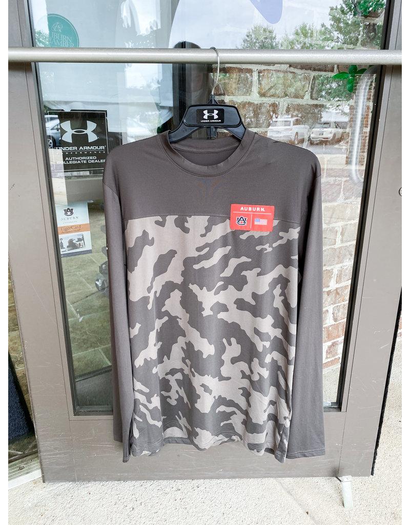 Under Armour F20 Military Appreciation Auburn Camo Long Sleeve T-Shirt