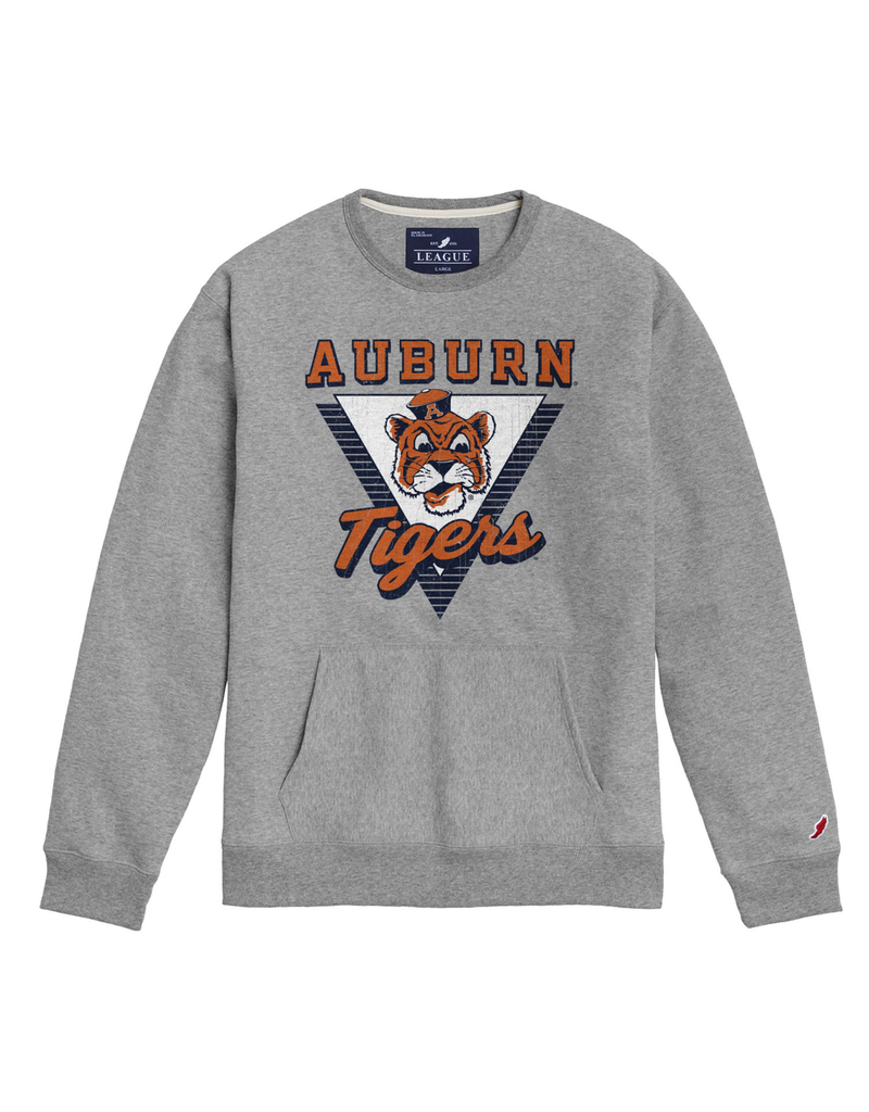 League Auburn Vintage Aubie Tigers Triangle Pocket Crew
