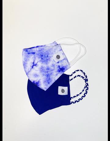 Pom Mask 2-Pack, Indigo/Tie Dye