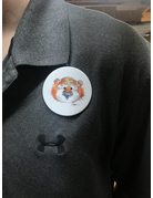 Watercolor Aubie Head Button
