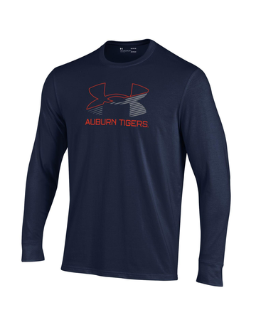 Under Armour Under Armour Logo Auburn Tigers Youth Long Sleeve Performance Cotton T-Shirt