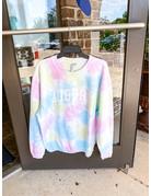 Chicka-D Arch Auburn Tie Dye Corded Sweatshirt