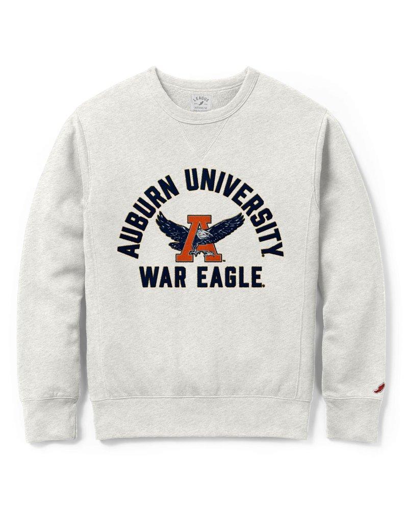 League Arch Auburn University Eagle Thru A War Eagle Embroidered Crew