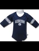 Third Street Sportswear Arch Auburn AU Football Striped Long Sleeve Onesie