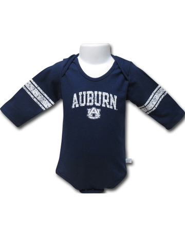Third Street Sportswear Arch Auburn AU Football Striped Long Sleeve Onesie