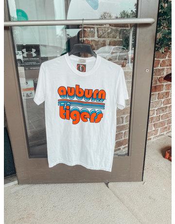 Bubble Auburn Tigers Retro Stripe T-Shirt