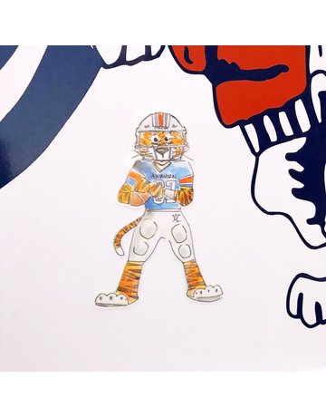 Watercolor Aubie Sport Decals