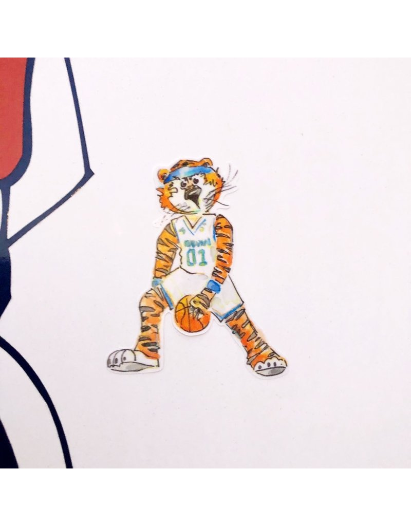 Watercolor Aubie Sport Decals