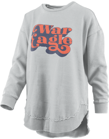 Vintage Script War Eagle Hi-Lo Fleece Crew