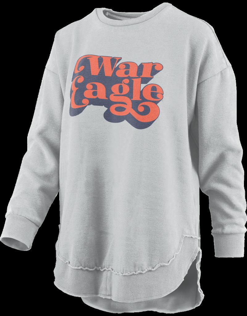 Vintage Script War Eagle Hi-Lo Fleece Crew