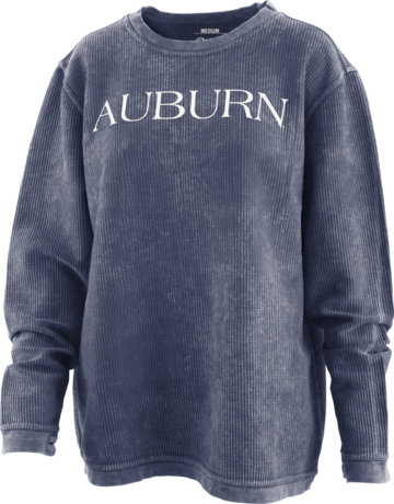 Auburn Bar Print Long Sleeve Corded Crew