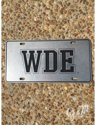 WDE Pewter License Plate