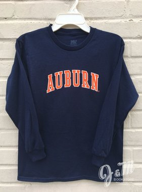 MV Sport Auburn Arch Long Sleeve Youth T-Shirt