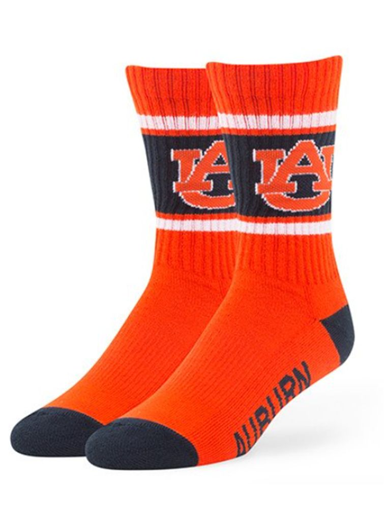 47 Brand AU 3-Tone Crew Socks, Orange, Medium