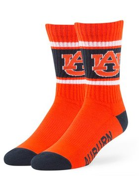 47 Brand AU 3-Tone Crew Socks, Orange, Large
