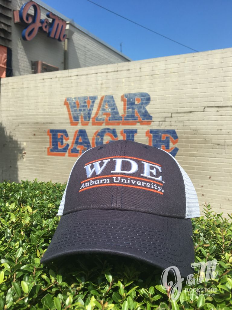 The Game WDE Three Bar Mesh Hat, Navy/White