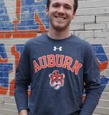 Under Armour Arch Auburn Vintage Aubie Head Legacy Triblend Long Sleeve T-Shirt