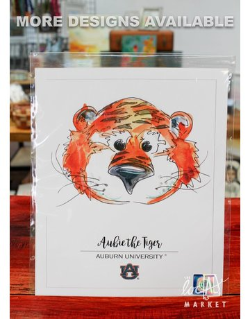 Auburn Licensed Prints 9x11