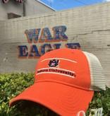 The Game AU Three Bar Auburn University Orange Front with Stone Mesh Hat