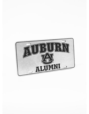 Auburn AU Alumni Recess Pewter License Plate