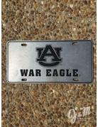 Recessed AU War Eagle License Plate