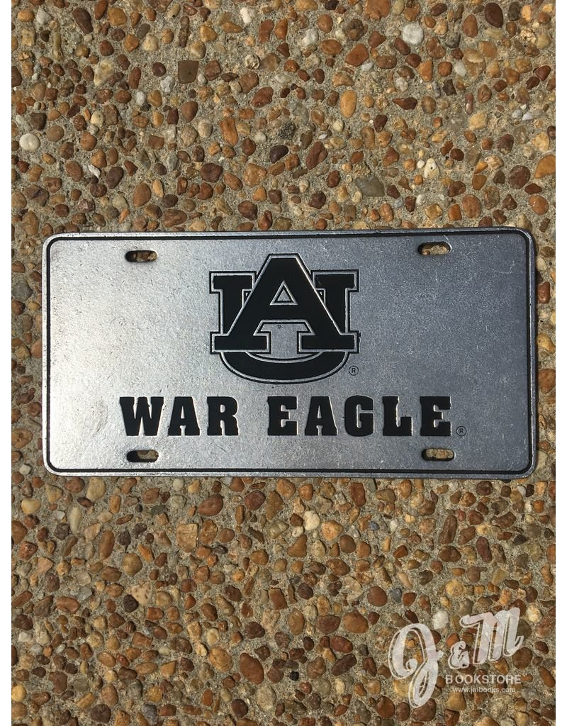 Recessed AU War Eagle License Plate