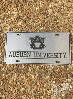 AU Auburn University Block License Plate