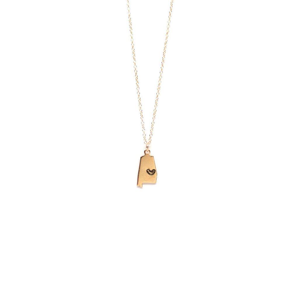 Emma Jane Designs, LLC Heart on Auburn, AL Necklace