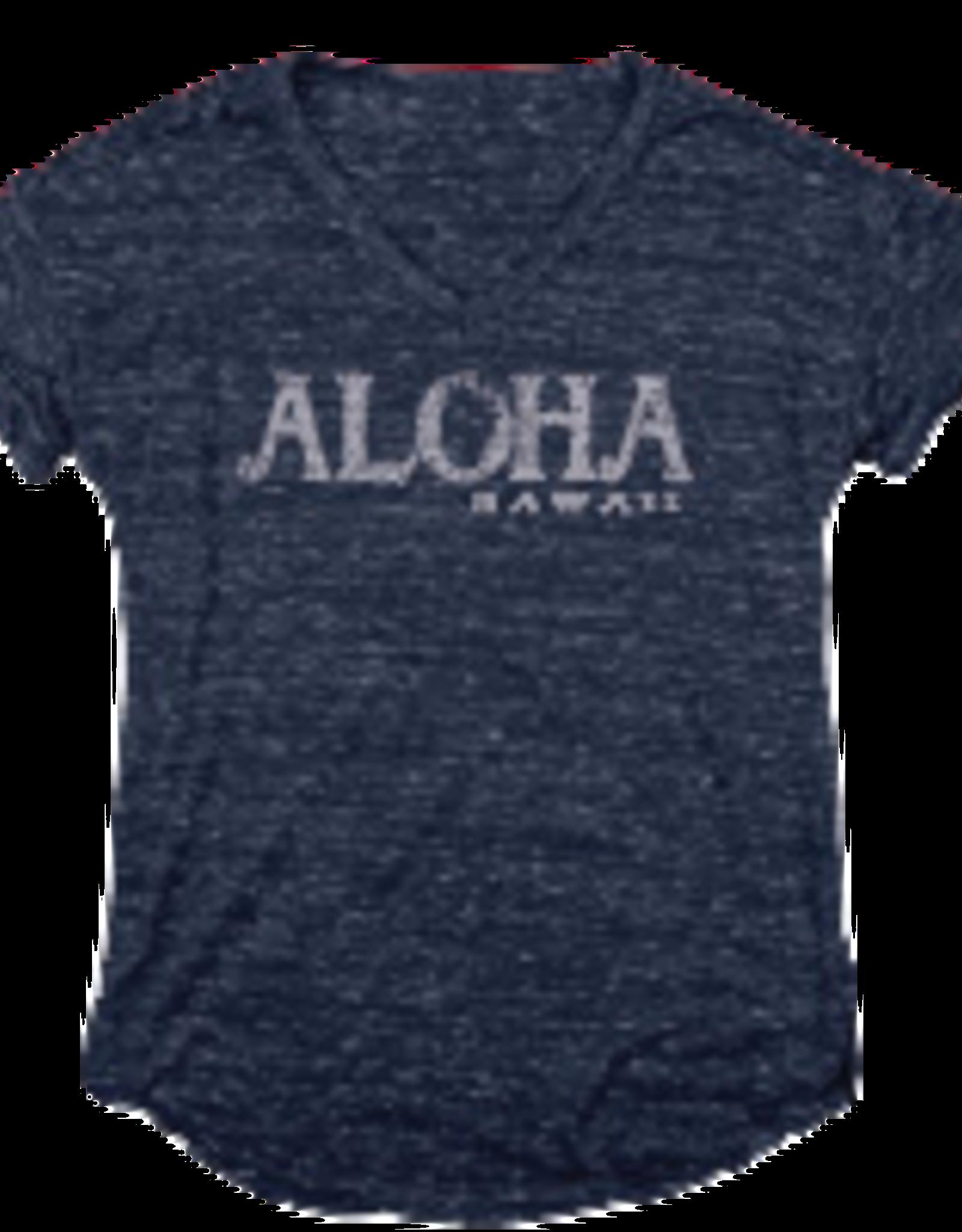 Blue 84 Declared Love Aloha HI Chain Ladies T-shirt