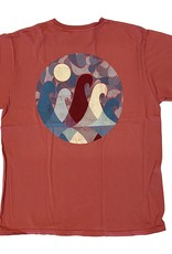Blue 84 Draconic Waves Dyed Ringspun T-Shirt
