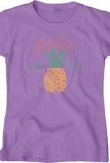 Blue 84 Fizzy Pineapple Soft Longer Length Ladies T-Shirt
