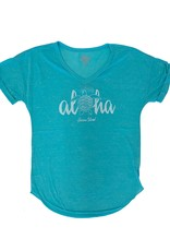 Blue 84 Juiceable Aloha Turtle Confetti V-Neck T-Shirt