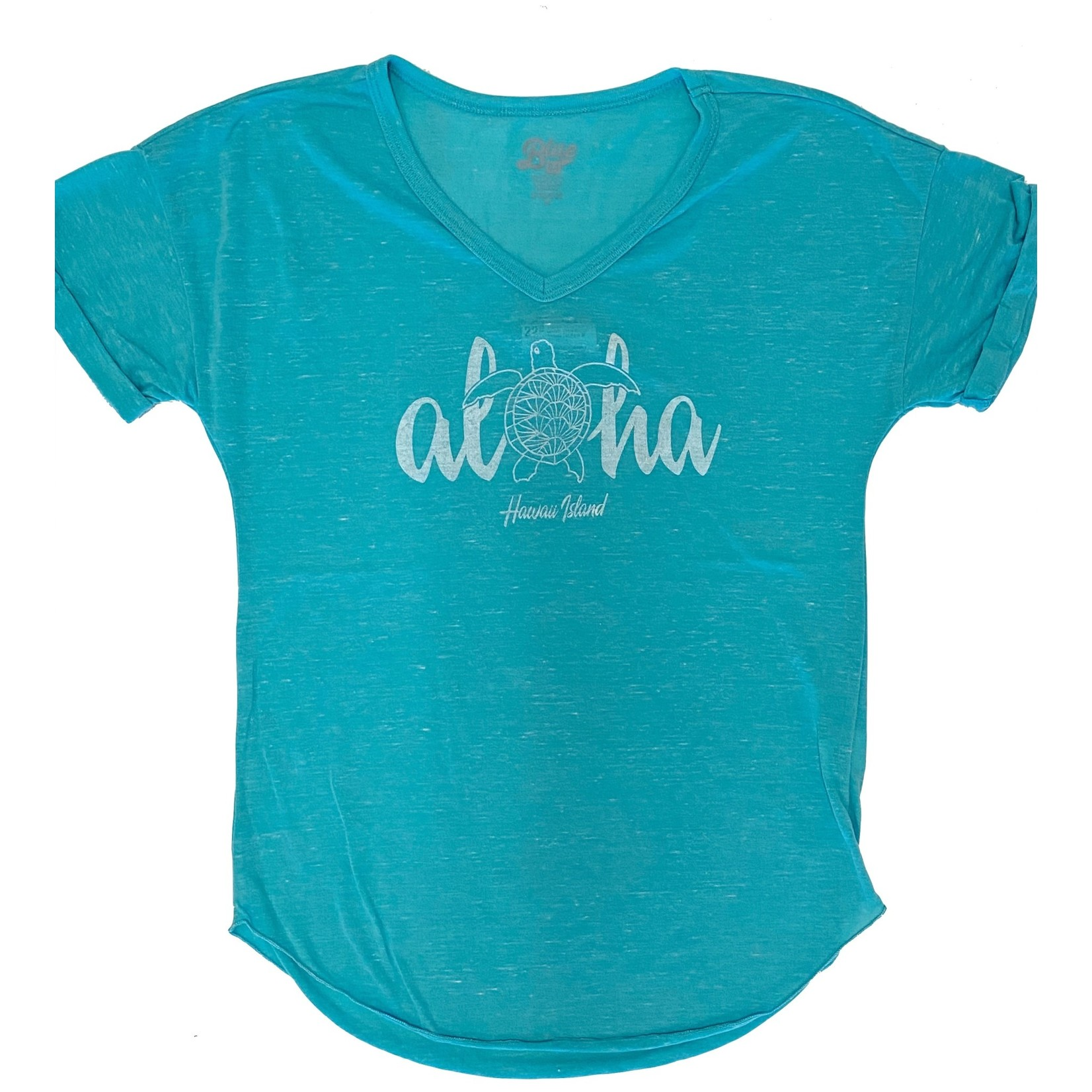 Blue 84 Juiceable Aloha Turtle Confetti V-Neck T-Shirt