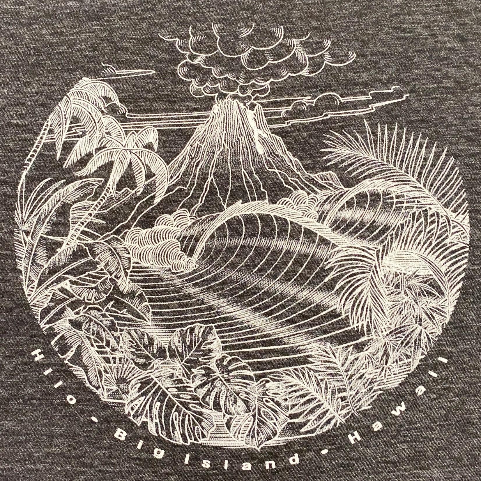 Blue 84 Night Moves Volcano Ladies T-Shirt