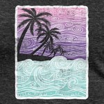 Blue 84 Nimbus Waves Palm Ladies T-shirt