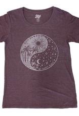 Blue 84 Philosophy Palm/Waves Ladies T-Shirt