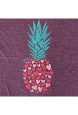 Blue 84 Reclaiming Pineapple Hearts Ladies T-shirt