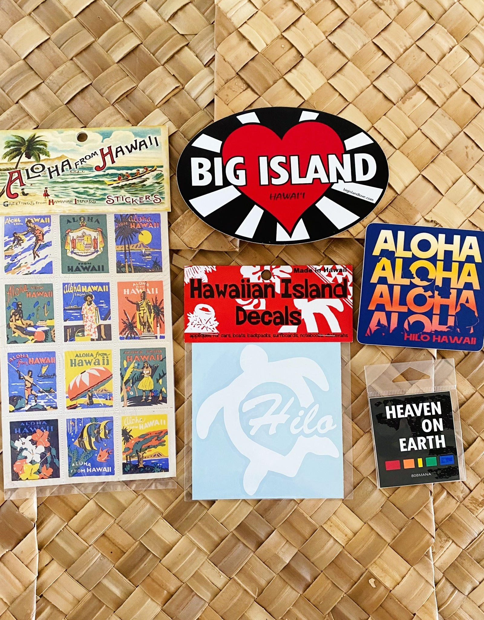 The Most Irresistible Shop in Hilo Surprise! Hawaii Stickers Set