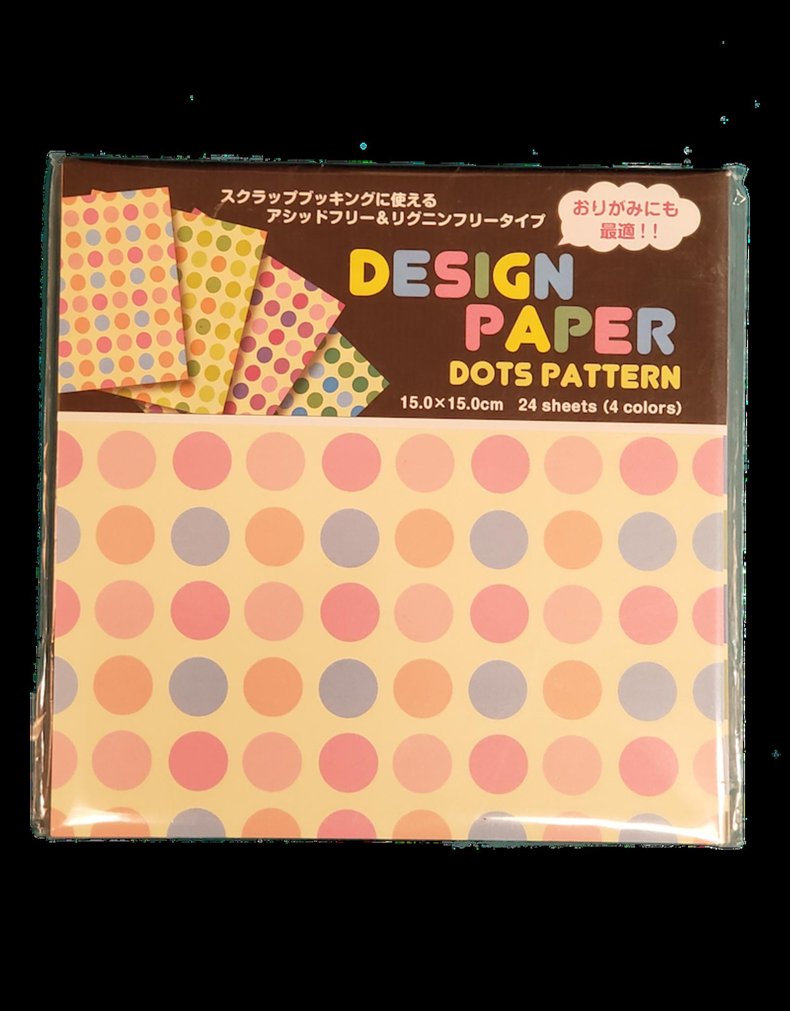 Kotobuki Trading Co. Inc Origami Design Dots 4 Colors (24)