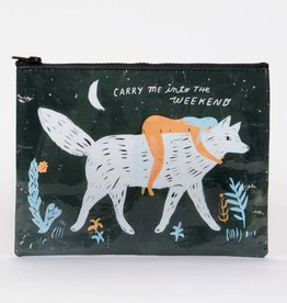 Blue Q Carry Me Into The Weekend Zipper Pouch