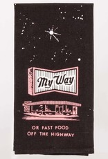 Blue Q My Way or Fast Food Dish Towel