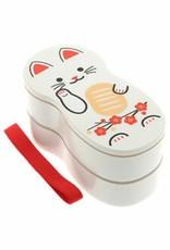 Kotobuki Trading Co. Inc Bento White Lucky Fortune Cat