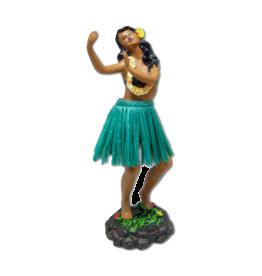 KC Hawaii Dashboard Doll Leilani Hula Green Skirt