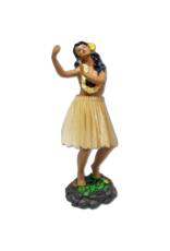 KC Hawaii Dashboard Doll Leilani Hula Natural Skirt