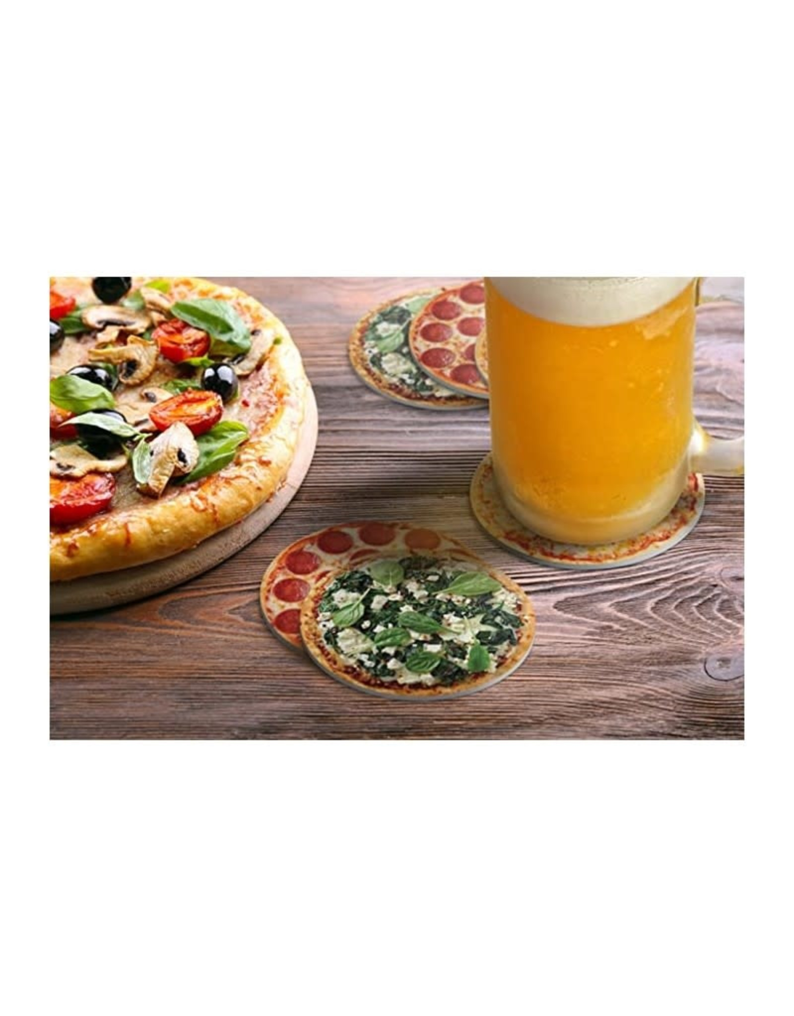 Fred & Friends Fred Hot and Fresh Pizza Coasters